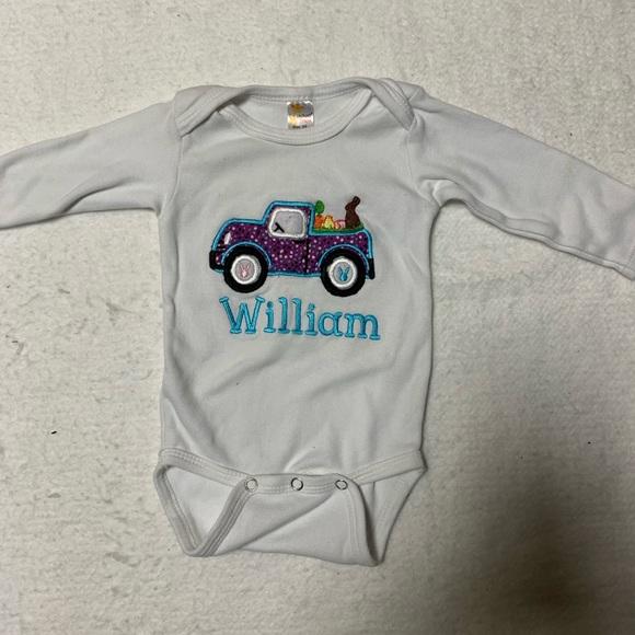 Bronco Truck Patriotic Baby Boy Girl Clothes Bodysuit  Baby Romper One Peice